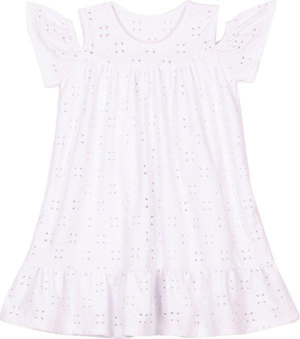 Vestido em Lazzie Branco - Serelepe Kids