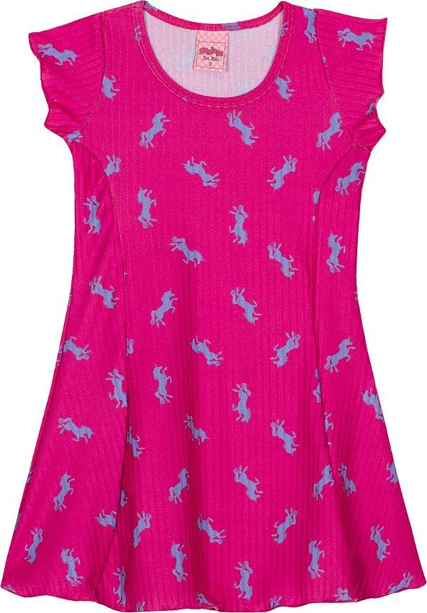 Vestido Ribana Pink - Serelepe Kids