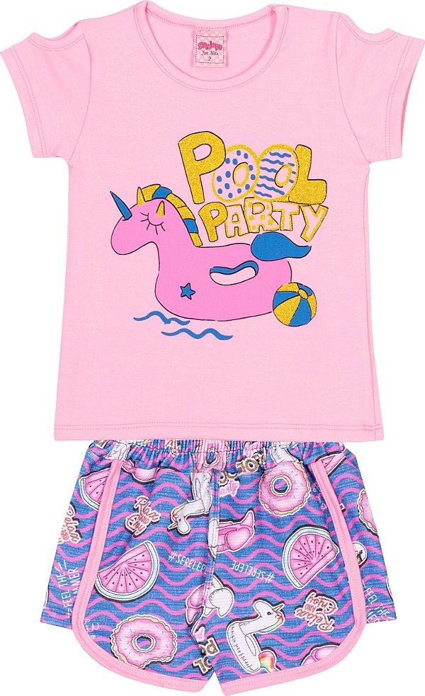 Conjunto Pool Party Bêgonia - Serelepe Kids