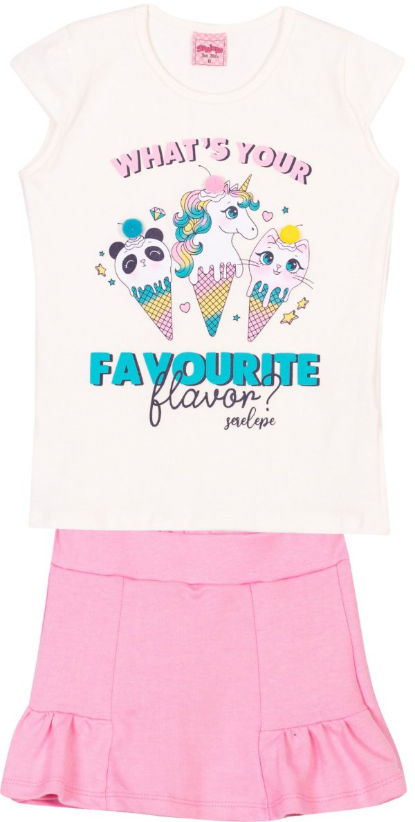 Conjunto Favourite Off White - Serelepe Kids