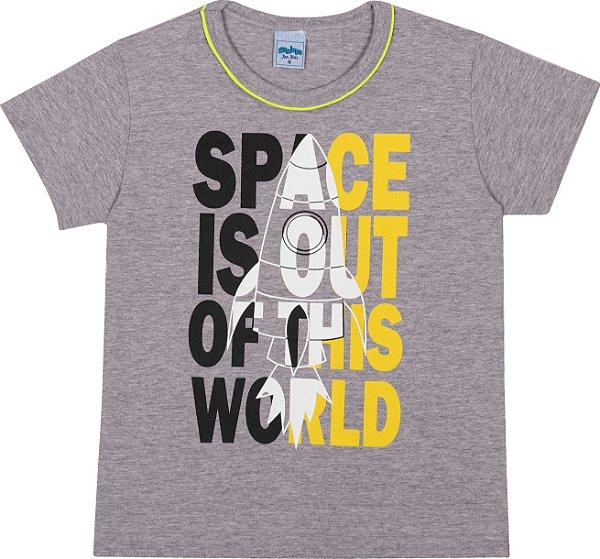 Serelepe Kids - Camiseta Avulsa Space Mescla