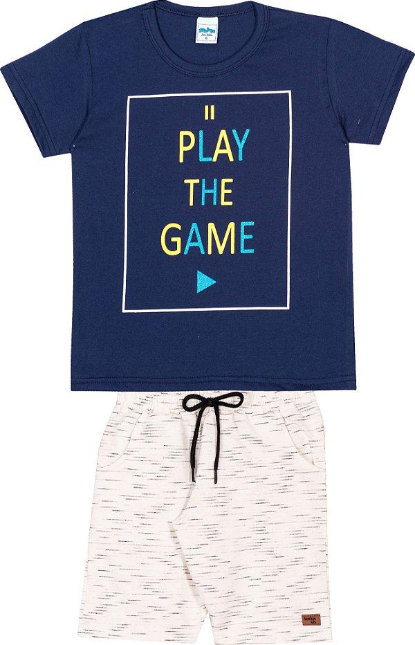 Serelepe Kids - Conjunto Play the Game Marinho