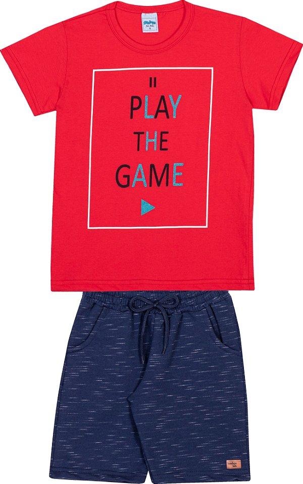 Serelepe Kids - Conjunto Play the Game Vermelho