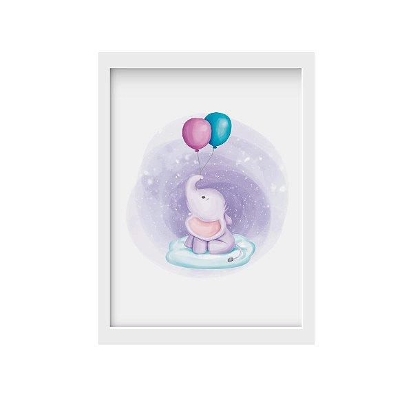 Quadro Elefantinho e Balões