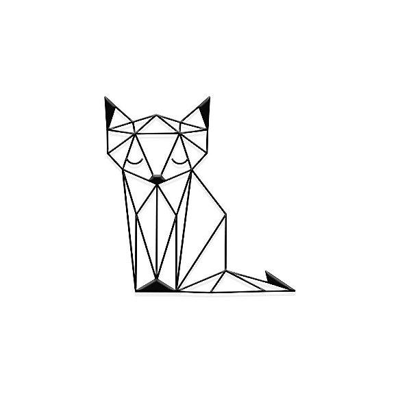 Decorativo Raposa Geométrica