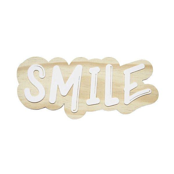 Lettering de parede Smile