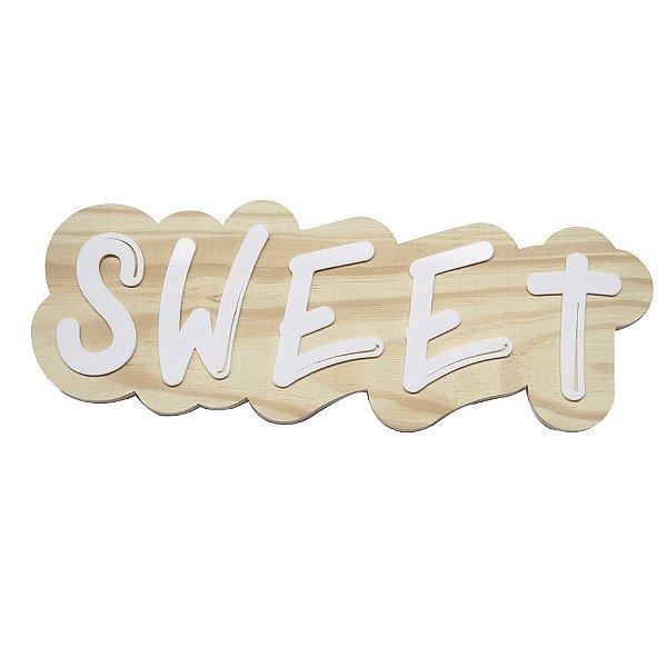Lettering de parede Sweet