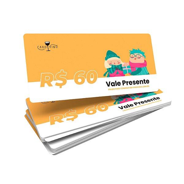 Vale Presente Digital - R$60