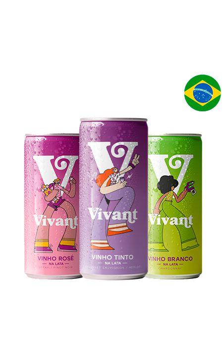 Kit Vivant - Vinho na Lata