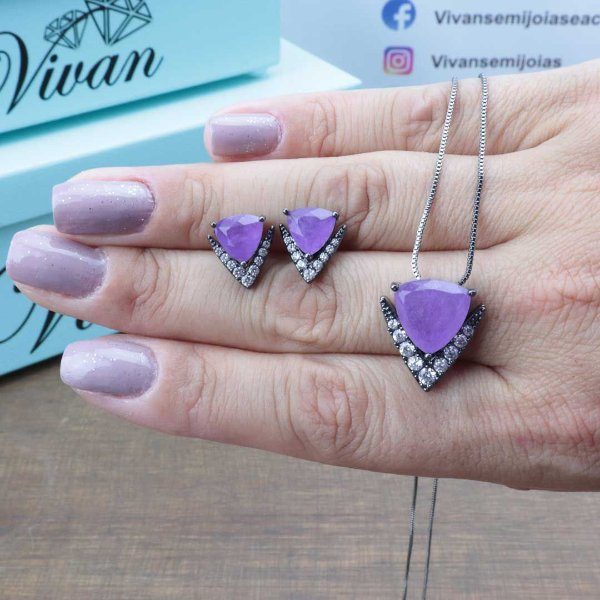 Conjunto triangular Ultra Violeta Fusion Premium