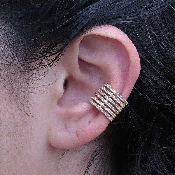 Piercing feminino maxi com zircônia cristal