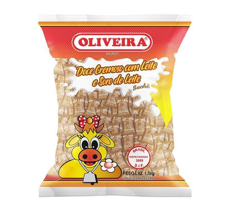 Doce Cremoso com Leite e Soro de Leite Oliveira - Xupleite - 6 Pacotes de 1,5Kg