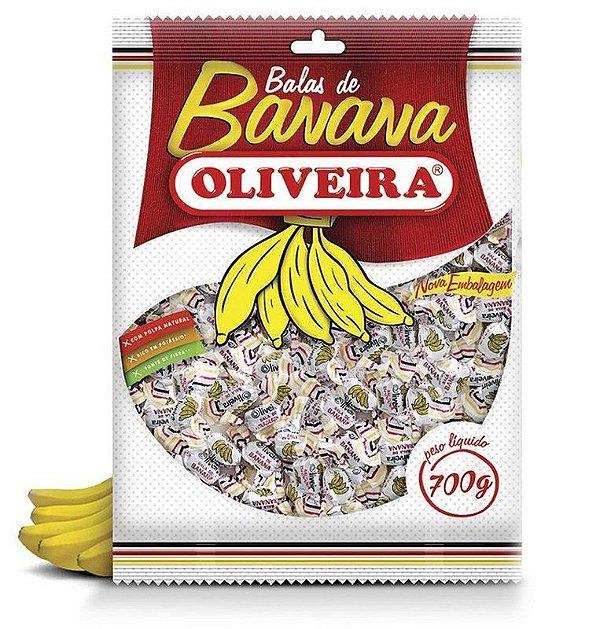 Bala de Banana Oliveira - 12 Pacotes de 700g