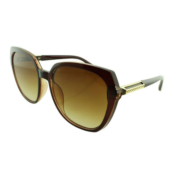 Óculos de Sol Feminino Color People JX8000 Marrom Degradê + Estojo de Brinde