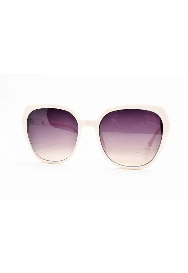 Óculos de Sol Feminino Color People JX8000 Branco + Estojo Brinde