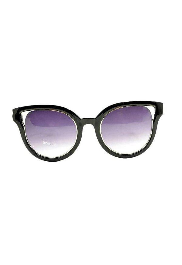 Óculos de Sol Feminino Color People Linha NY Preto + Estojo Brinde