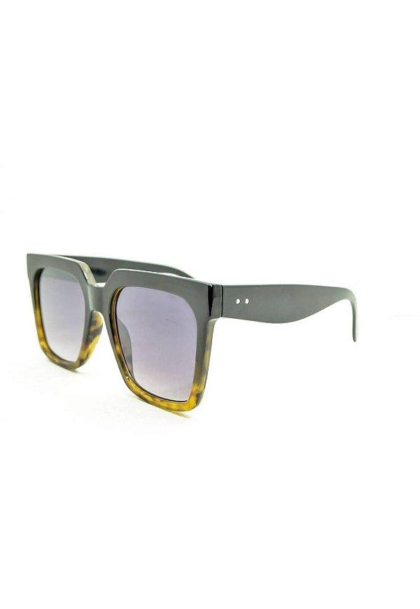 Óculos de Sol Feminino Color People Marrom Degradê + Estojo Brinde