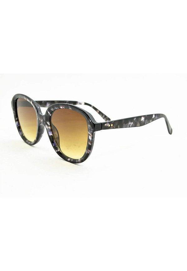 Óculos de Sol Feminino Color People Marrom Onça + Estojo Brinde
