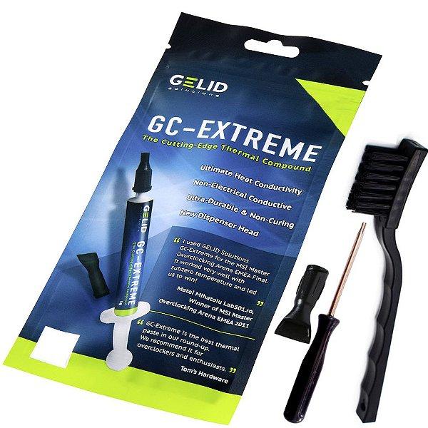 Pasta Térmica Gelid GC-Extreme 3.5g + Chave Torx T8 + Escova