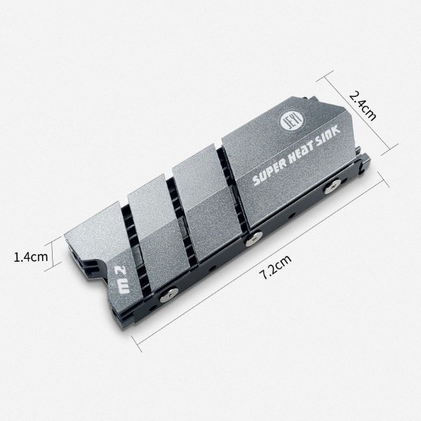 Dissipador de Calor JEYI para SSD M.2 NVMe 2280 Flyfish