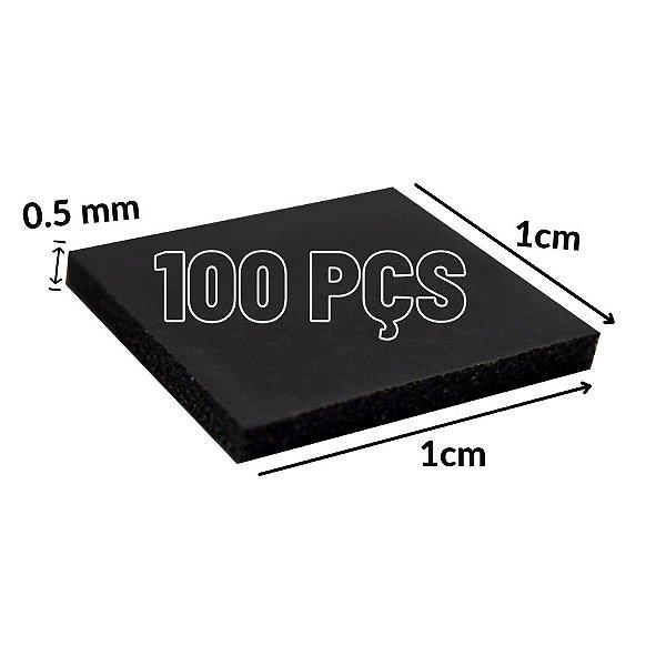 Thermal Pad 100 Peças 10mmx10mm 0.5mm Para Consoles GPU