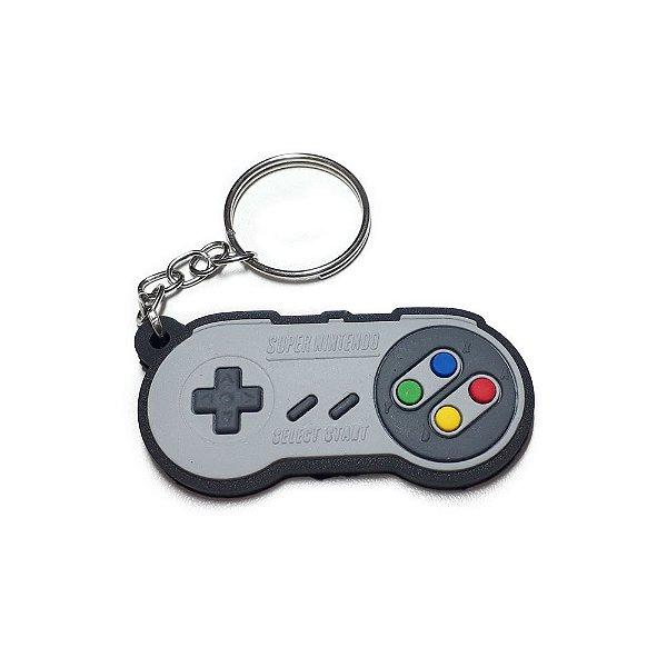 Chaveiro Controle Super Nintendo Emborrachado
