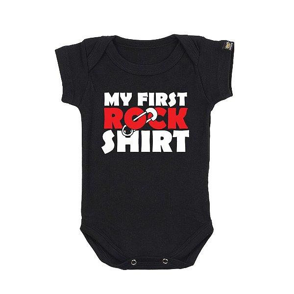 Body Bebê Rock Shirt Preto