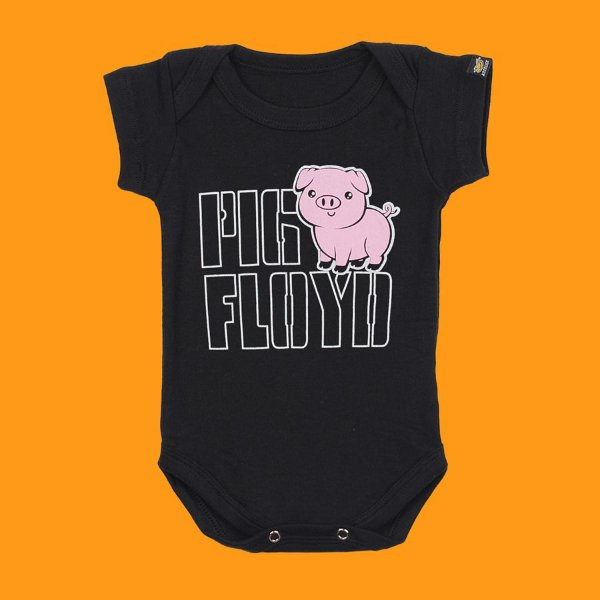 Body Bebê Pig Floyd Preto