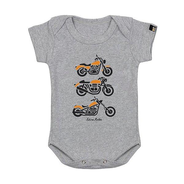 Body Bebê Futuro Motoqueiro Mescla