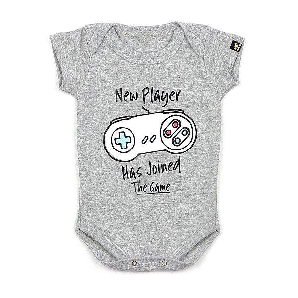 Body Bebê Novo Jogador Mescla