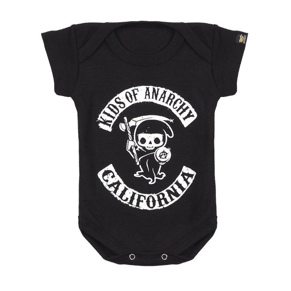 Body Bebê Kids Of Anarchy Preto