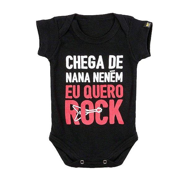 Body Bebê Chega de Nana Preto