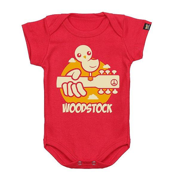 Body Bebê Woodstock Vermelho
