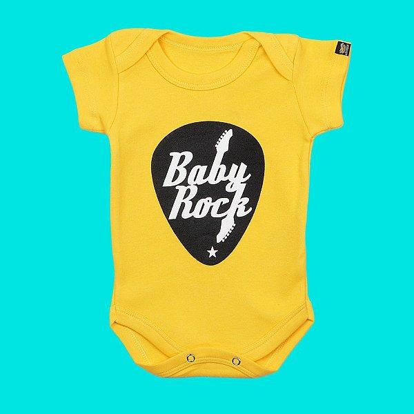 Body Bebê Baby Rock Amarelo