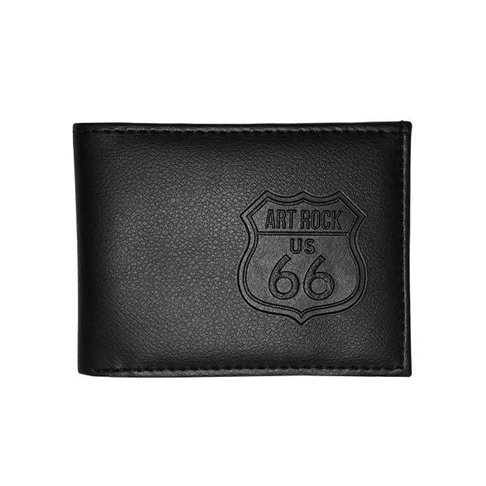 Carteira Aberta Brasão US 66 Preta