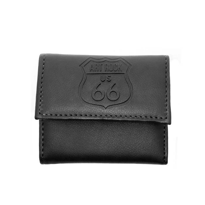 Carteira Velcro Brasão US 66 Preta