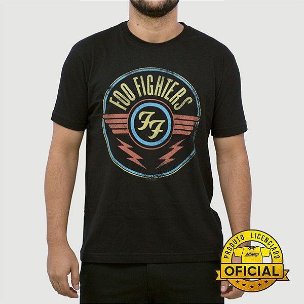 Camiseta Foo Fighters Rain Preta