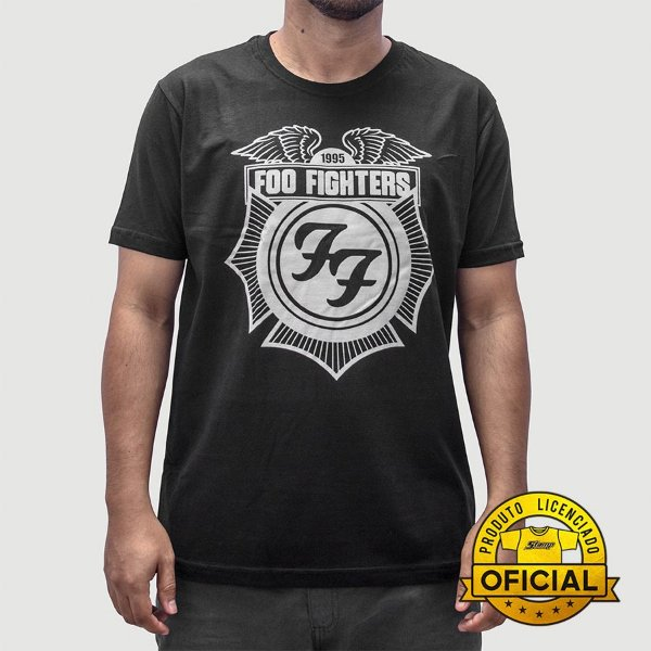 Camiseta Foo Fighters Logo Preta