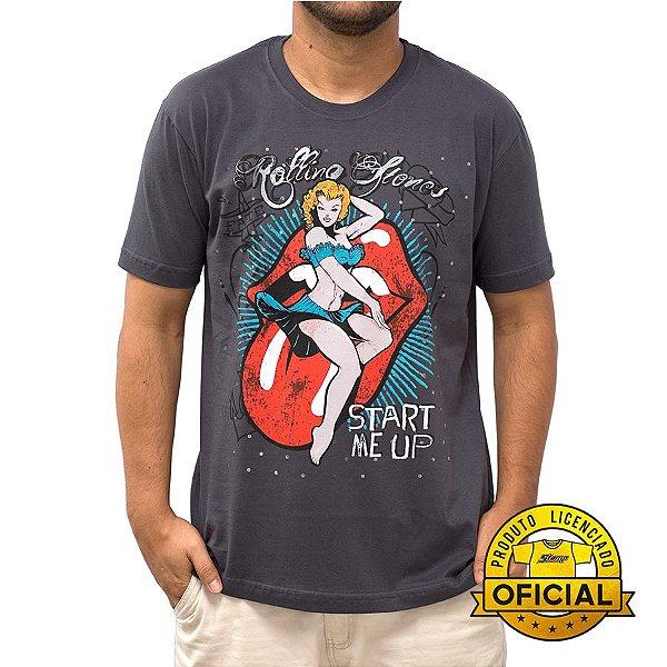 Camiseta Rolling Stones Star Me Up Chumbo