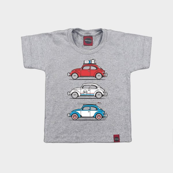 Camiseta Infantil Trip Fusca Mescla