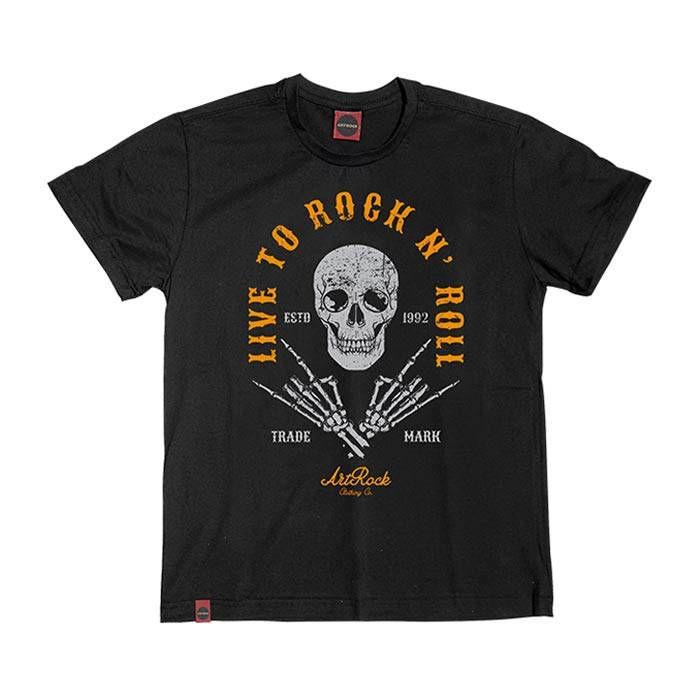 Camiseta Juvenil Rock Live To Preta.