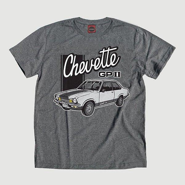 Camiseta Juvenil Chevette GP Grafite.