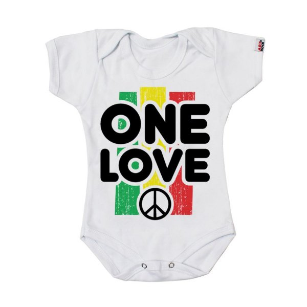 Body Bebê  Reggae One Love Branco