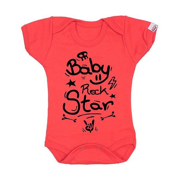 Body Bebê Rock Star Vermelho
