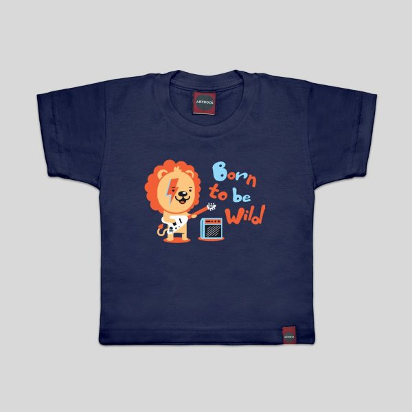 Camiseta Infantil Born To Be Marinho