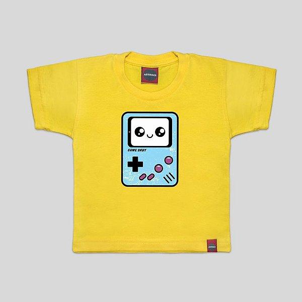 Camiseta Infantil Game Boy Baby Amarela