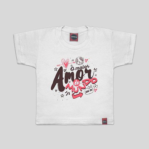 Camiseta Infantil Amor Maior Branca
