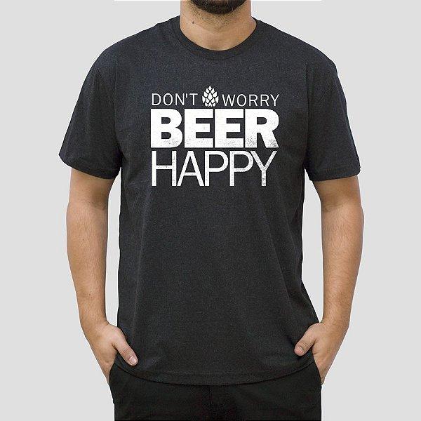 Camiseta Cerveja Dont Worry Preta Jaguar.