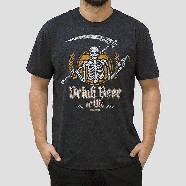Camiseta Cerveja Drink Beer Preta Jaguar.