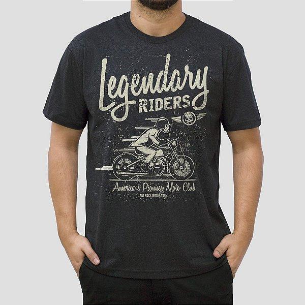 Camiseta Moto Legendary Preta Jaguar.